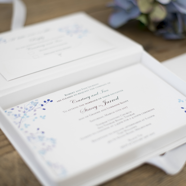 Light Blue Custom Designed Invitations Melbourne | Very Inviting Couture Invitations
