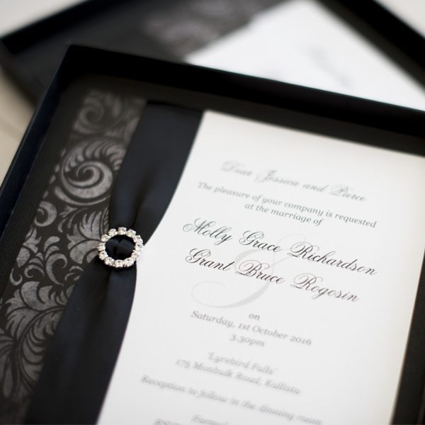 Little Black Box Custom Designed Invitations Melbourne | Very Inviting Couture Invitations