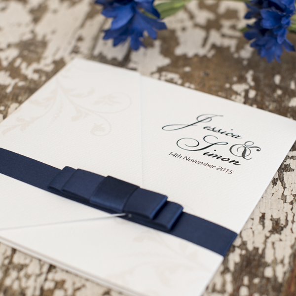 RIBBON BOW Custom Designed Invitations Melbourne